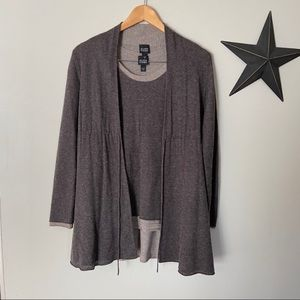 Eileen Fisher | 2 Piece Cardigan & Tank Twinset